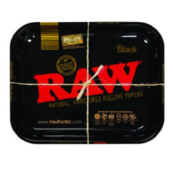 Large Black RAW Rolling Tray