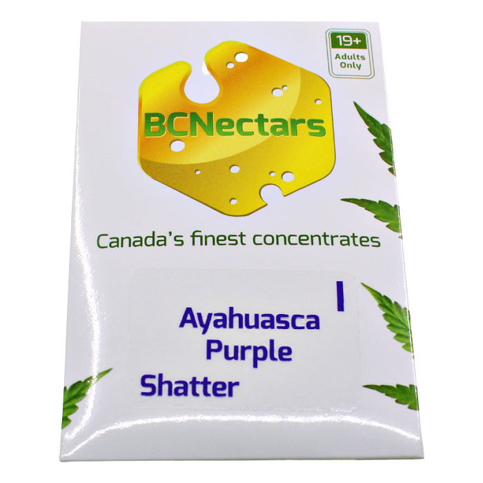 Ayahuasca purple Front BC Nectar Shatter