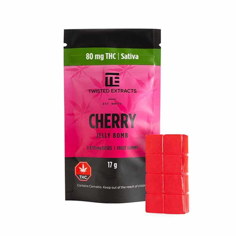 TNS-Edibles-TE-Gummies-Jelly-Bomb-THC-Sativa-Cherry-2